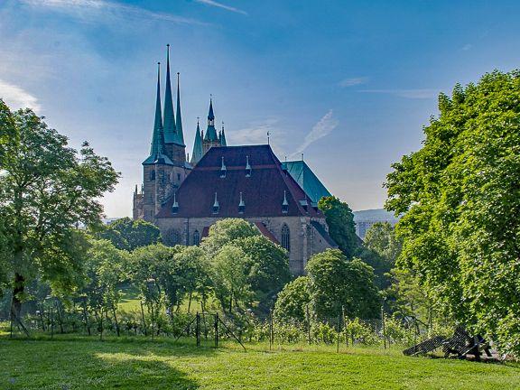 Der Erfurter Dom in der Landeshauptstadt Erfurt